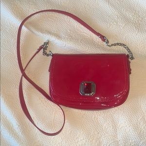 NWOT Nine West ruby red crossbody purse